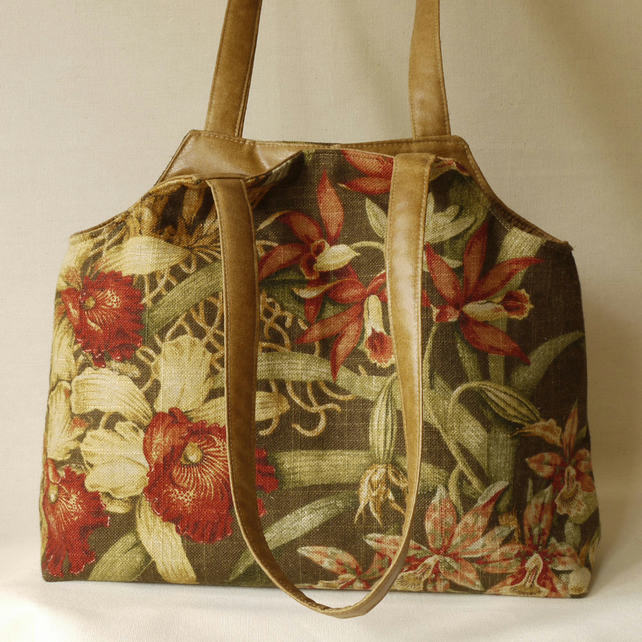Orchid Flowers Handbag