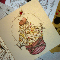Vickilicious designs on folksy for Cherry bomb tattoo parlor perth