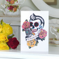 Elvis rockabilly sugar skull tattoo handmade birthday card