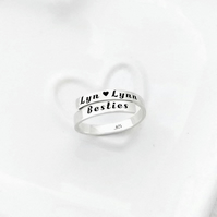 Personalised sterling silver wrap ring, engraved ring, names ring, personalised