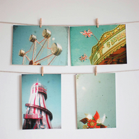 Set of Four Postcards - Fair