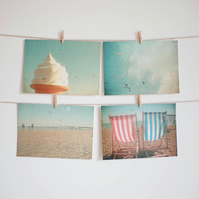 Set of Four Postcards - The Sea