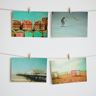 Set of Four Postcards - Brighton