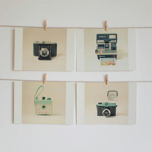 Set of Four Postcards - Camera Love