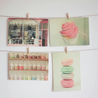 Set of Four Postcards - Sweet Things