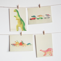 Dinosaur Postcard Set, Retro Photography - The Dinosaur Set