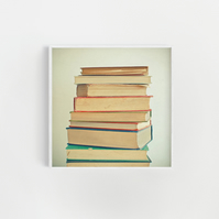 Book Print, Gift for Bookworm - Stack of Books