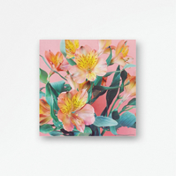 Floral Wall Hanging, Wood Print - Spring Bouquet