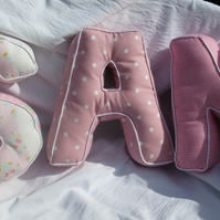 Custom Order Letter Cushions for Donnahyndman