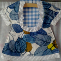 CUSTOM ORDER FOR HATTIESPENCER Vintage Barkcloth & Gingham Check  Peg Bag