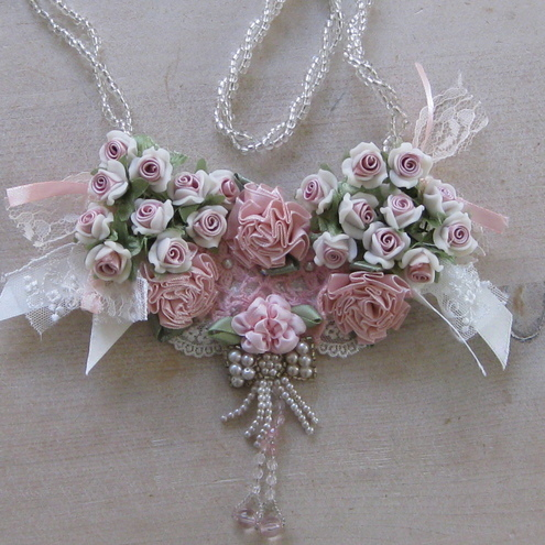 Tattered Roses Necklace