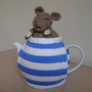 Cute Hand Knitted Cornish Dormouse teapot tea cosy