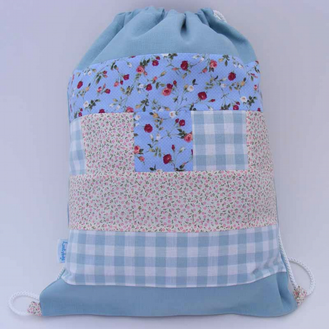Girls Patchwork Waterproof Backpack, PE bag, Swim Bag or School Bag