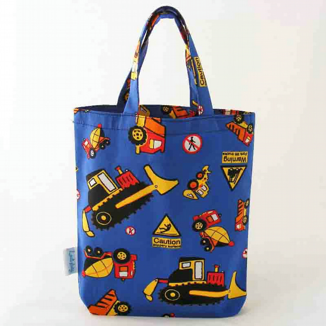 Digger and Trucks Luxury Fabric Party Bags