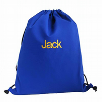 Personalised Backpack, Swim Bag, PE Bag - Blue