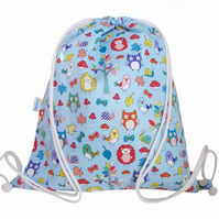 Forest Animals Swim Bag, Backpack, PE Bag or Gym Bag for Kids