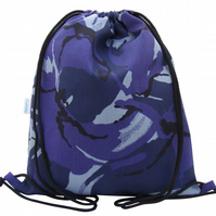 Waterproof Backpack, PE Bag or Swim Bag - Blue Camouflage