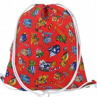 Diggers Drawstring Backpack, PE Bag, Swim Bag