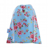 Drawstring Wash Bag, Toiletry Bag - Rose