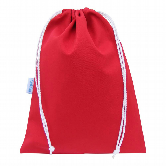 Drawstring Wash Bag, Toiletry Bag - Red