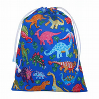 Drawstring Wash Bag, Toiletry Bag - Dinosaur