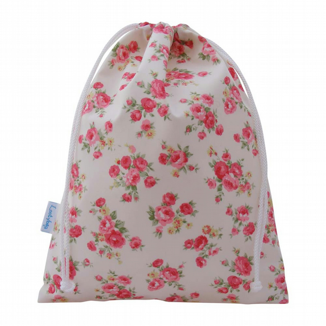 Drawstring Wash Bag, Toiletry Bag - Vintage Rose