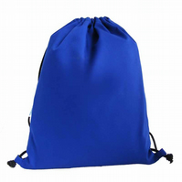 Drawstring Backpack, PE Bag, Swim Bag - Blue