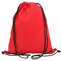 Drawstring Backpack, PE Bag, Swim Bag - Red