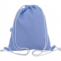 Drawstring Backpack, PE Bag, Swim Bag - Pale Blue