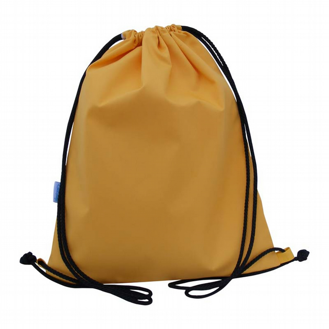 Drawstring Backpack, PE Bag, Swim Bag - Yellow