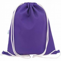 Drawstring Backpack, PE Bag, Swim Bag - Purple