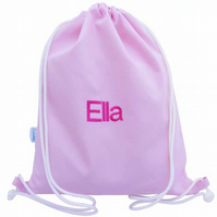 Personalised Backpack, Swim Bag, PE Bag - Pink