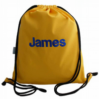 Personalised Backpack, Swim Bag, PE Bag - Yellow
