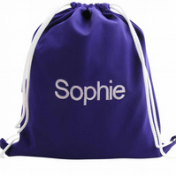 Personalised Backpack, Swim Bag, PE Bag - Purple