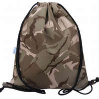 Large Swimming Bag, Backpack, Gym Bag - Desert Camouflage