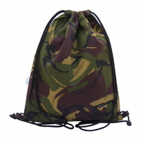 Large Swimming Bag, Backpack, Gym Bag - Green Camouflage