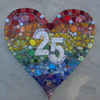 Personalised Wedding, Anniversary,Heart Mosaic
