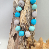 Beach inspired pebble bracelet