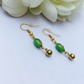 Vintage pea green earrings
