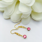 Vintage swarovski round pink earrings