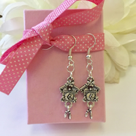 Free UK P&P. Vintage style cuckoo clock earrings