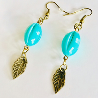 Turquoise vintage style earrings . Boho,prom,wedding,party,festival,glamour