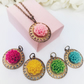 Interchangeable flower pendant necklace