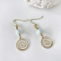 Ocean Inspired dangle amazonite earrings
