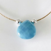 Turquoise briolette gemstone necklace
