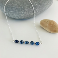 Lapis Lazuli gemstone necklace in gorgeous shades of deep blue