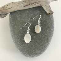 Simple and stylish crazy lace agate gemstone earrings with sterling silver