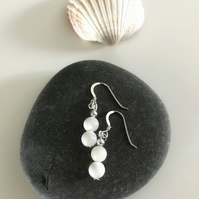 Mother of Pearl earrings with sterling silver earwires