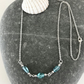 Apatite gemstone bead necklace