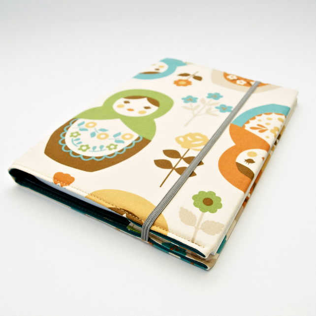 Fabric Book Cover Russian Doll